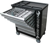 Werkstattwagen gefüllt mit Werkzeug Werkzeugschrank Werkzeugwagen Werkzeugkiste - 1