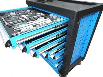 Bensontools Werkstattwagen bestückt mit Werkzeugen Blue Edition - 4