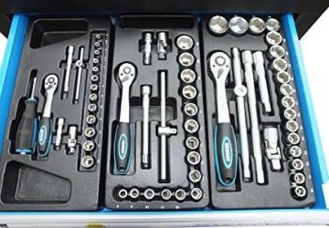 Bensontools Werkstattwagen bestückt mit Werkzeugen Blue Edition - 6
