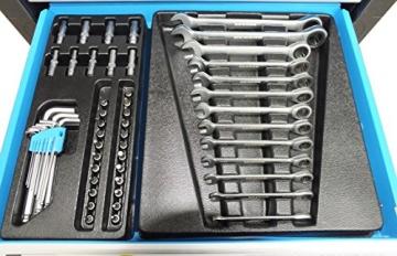 Bensontools Werkstattwagen bestückt mit Werkzeugen Blue Edition - 7