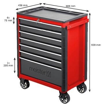 Meister Werkstattwagen 688 x 458 x 939 mm, 8986050 - 5