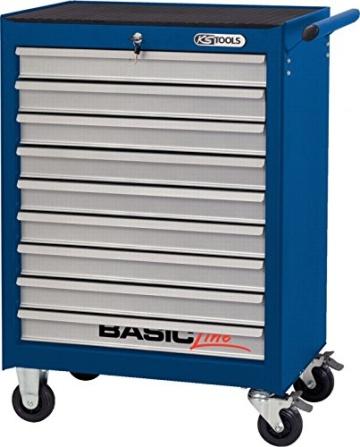 KS Tools Basicline Werkstattwagen mit 9 Schubladen, blau / silber, 837.0009 - 1