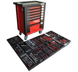 Werkstattwagen bestückt gefüllt Werkzeugwagen Werkzeugkiste Werkzeug Schrank Box 542 - 1