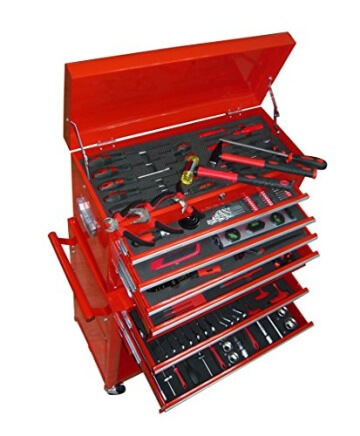 Werkstattwagen Werkzeugwagen Gefüllt Werkzeugkiste über 250 Werkzeuge - 1