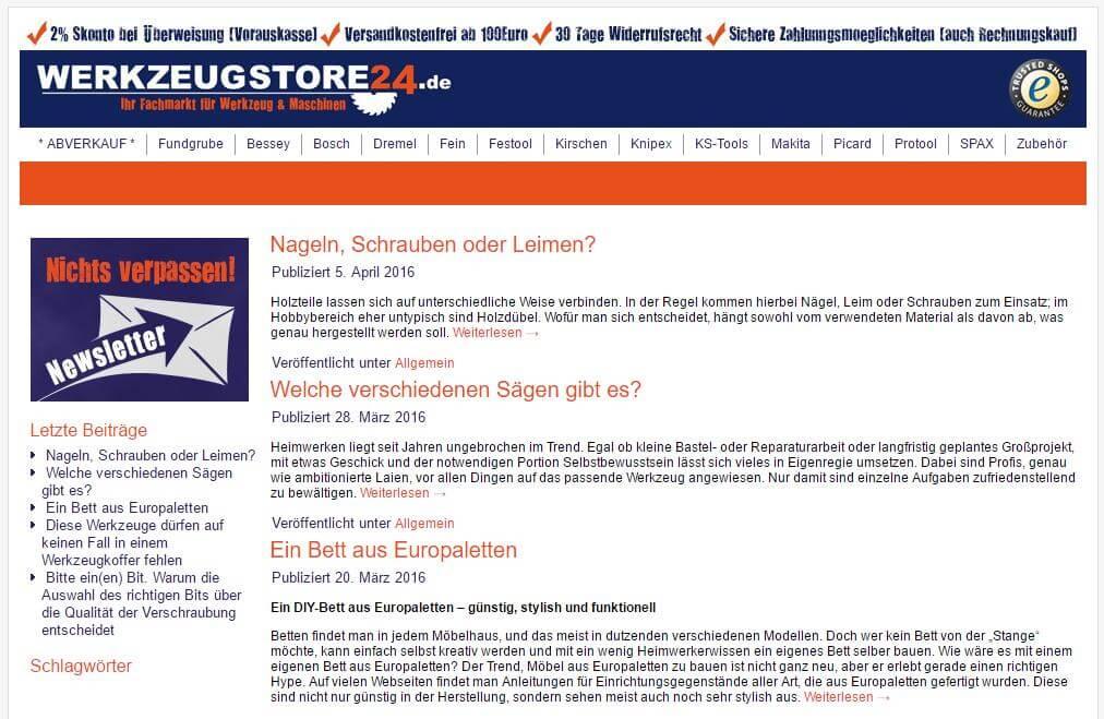 werkzeugstore24 Blog
